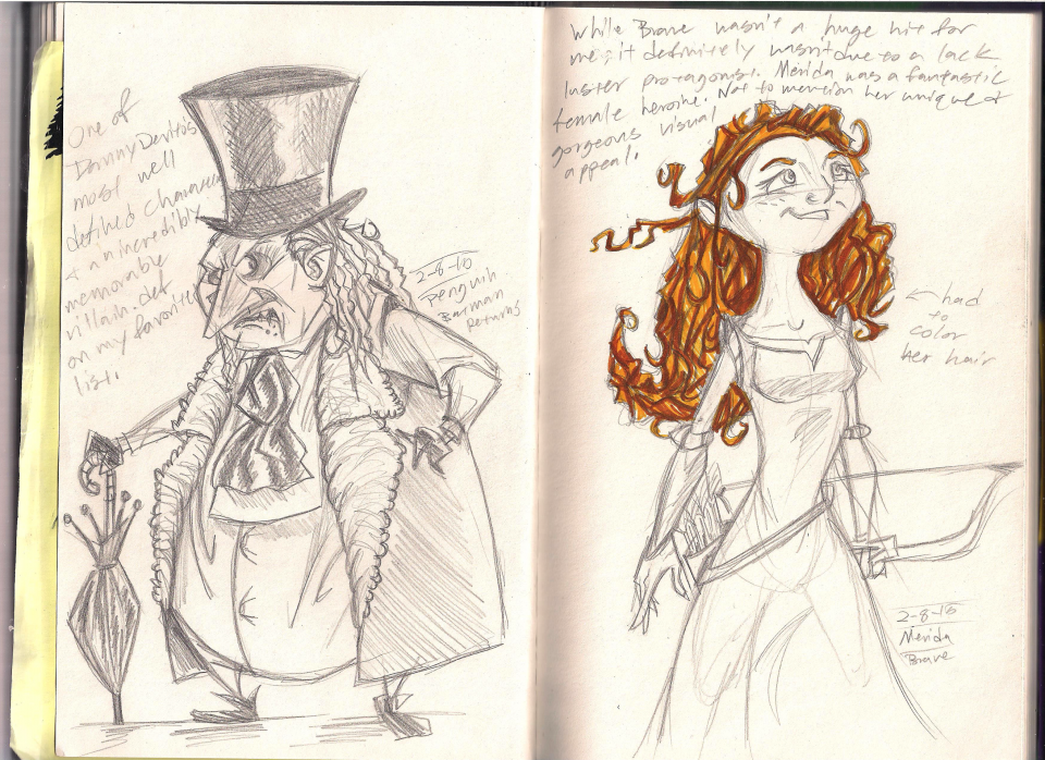 Arnie's Favorite Movie Characters (Feb 2015)- day 28!!!!!!!!!!!! 7340-day-8-penguin-and-merida-by-lee-d
